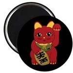 Red Maneki Neko Magnet
