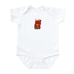 Red Maneki Neko Infant Bodysuit