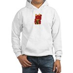 Red Maneki Neko Hooded Sweatshirt