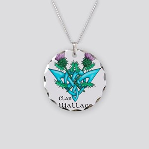 Wallace Two Thistles Necklace Circle Charm