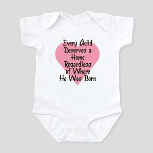 EVERY CHILD DESERVES A HOME Infant Bodysuit