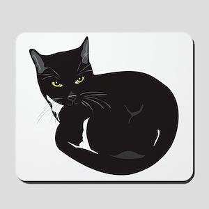 Tuxedo Cat Resting T-shirt Mousepad
