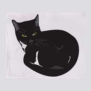 Tuxedo Cat Resting T-shirt Throw Blanket