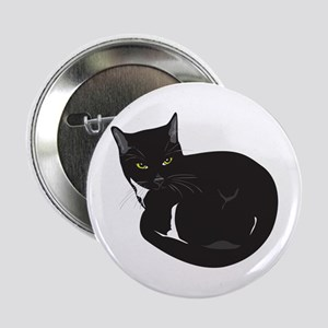 """Tuxedo Cat Resting T-shirt 2.25"""" Button"""