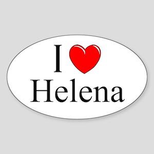 """I Love Helena"" Oval Sticker"
