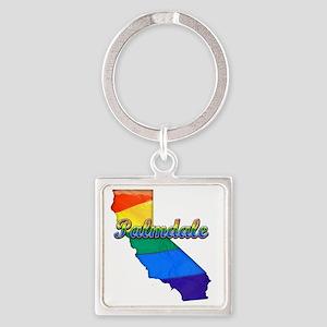 Palmdale Square Keychain