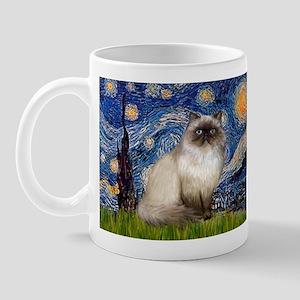 Starry Night Himalayan cat Mug
