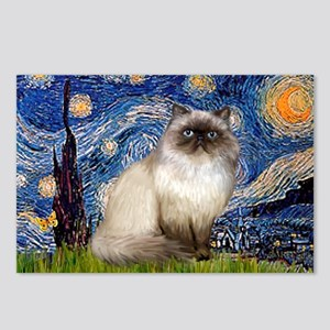 Starry Night Himalayan cat Postcards (Package of 8