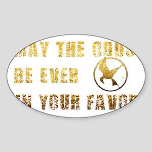 goldfoiloddsdark Sticker (Oval)