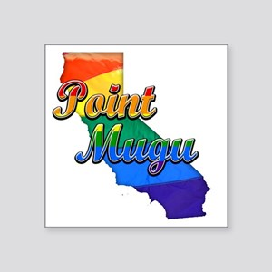 "Point Mugu Square Sticker 3"" x 3"""