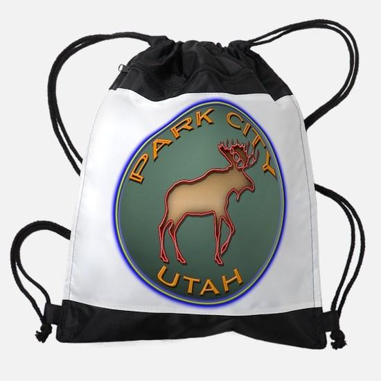 NeonMooseCircleSeriesMulticolorsNew Drawstring Bag