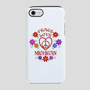 Peace Love Michigan iPhone 7 Tough Case