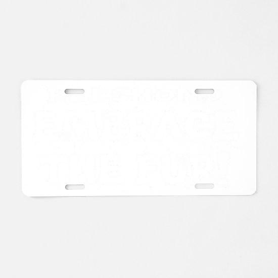 Keeshond Aluminum License Plate