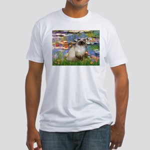 Lilies & Himalayan cat Fitted T-Shirt