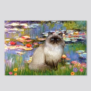 Lilies & Himalayan cat Postcards (Package of 8)