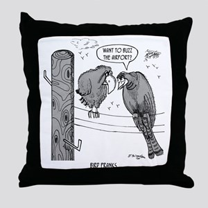 2050_bird_cartoon Throw Pillow
