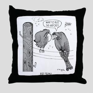 2050_bird_cartoon Throw Pillow