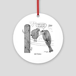2050_bird_cartoon Round Ornament