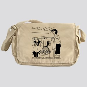3074_frequent_flyer_cartoon Messenger Bag