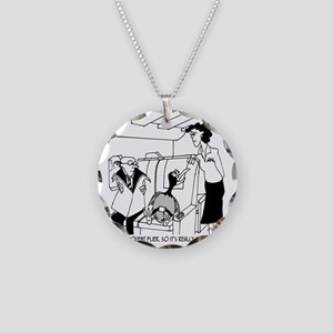 3074_frequent_flyer_cartoon Necklace Circle Charm