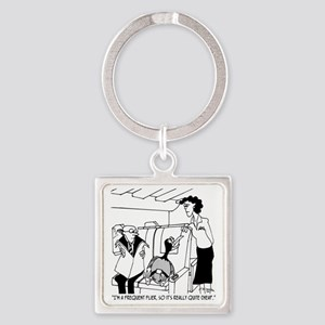 3074_frequent_flyer_cartoon Square Keychain