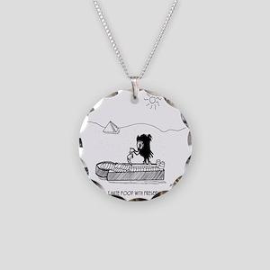 2664_archaeology_cartoon Necklace Circle Charm