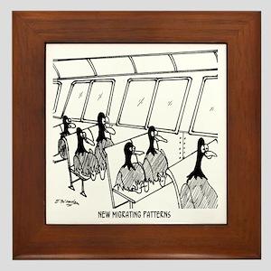 3252_train_cartoon Framed Tile