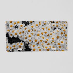 flowers4 Aluminum License Plate