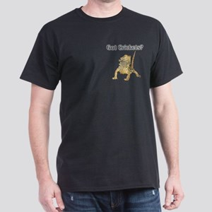 Bearded Dragon Pocket Crickets III Black T-Shirt