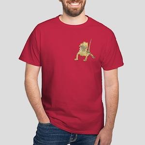 Bearded Dragon T-Shirt on pocket (cardinal)