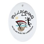 Volleydawg Oval Ornament