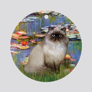 Lilies & Himalayan cat Ornament (Round)