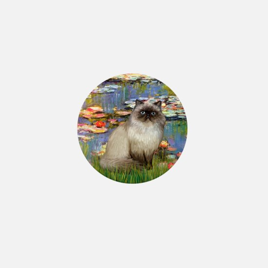 Lilies & Himalayan cat Mini Button