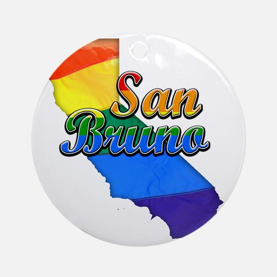 San Bruno Round Ornament