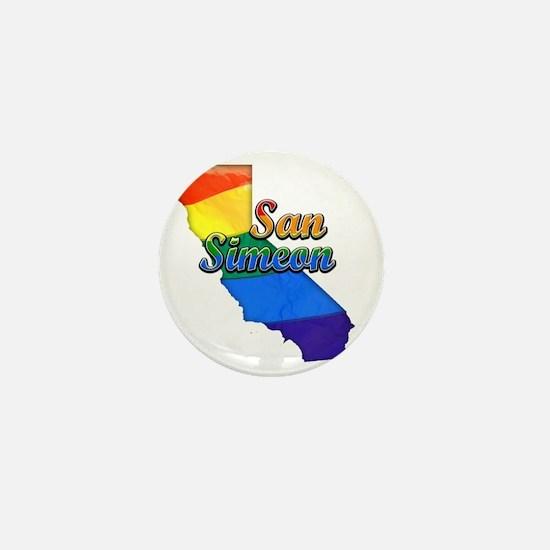 San Simeon Mini Button
