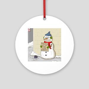 snowbum1 Round Ornament
