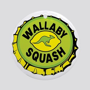 WALLYBY SQUASH cap Round Ornament