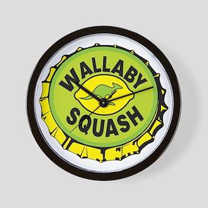 WALLYBY SQUASH cap Wall Clock