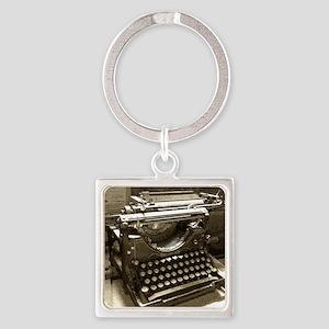 Typewriter Square Keychain