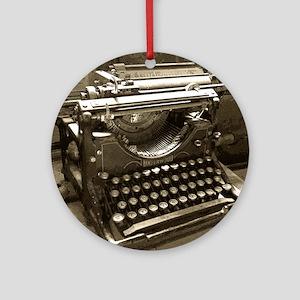 Typewriter Round Ornament