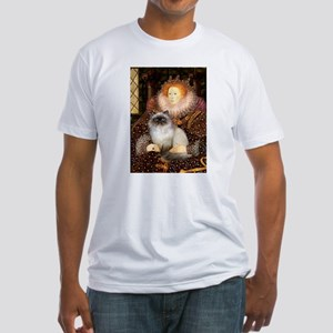Queen & Himalayan cat Fitted T-Shirt