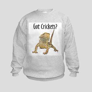 Bearded Dragon Got Crickets Kids Sweatshirt