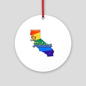 St Helena Round Ornament