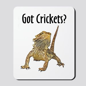 Bearded Dragon Got Crickets Mousepad