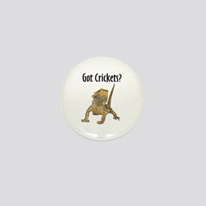 Bearded Dragon Got Crickets Mini Button