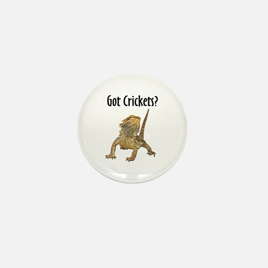 Bearded Dragon Got Crickets Mini Button