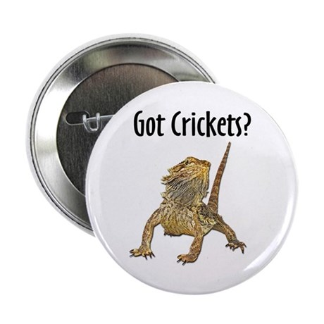 "Bearded Dragon Got Crickets 2.25"" Button (100 pack"