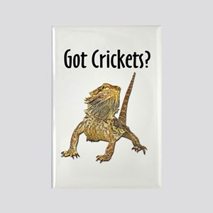 Bearded Dragon Got Crickets Rectangle Magnet