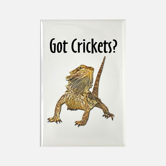 Bearded Dragon Got Crickets Rectangle Magnet