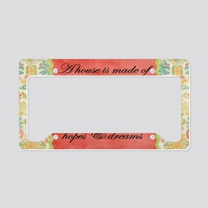 Hope and Dreams License Plate Holder